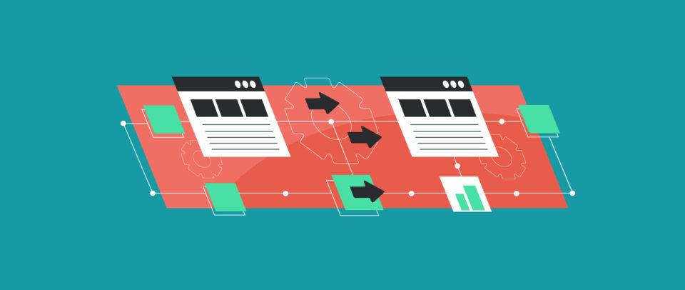 Illustration of websites in motion