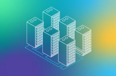 Illustration of web hosting servers