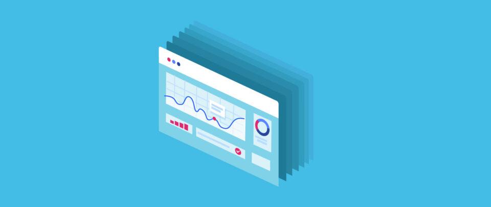 Illustration of a website dashboard