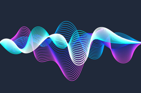 Illustration of vibrant, flowing sound waves